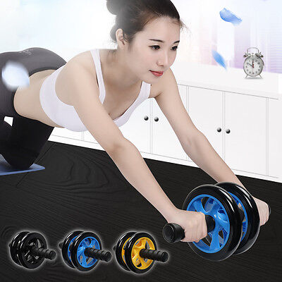 Exercice Abdominale Rouleau Corps Tonifier Musculation Roue Double Force + Tapis