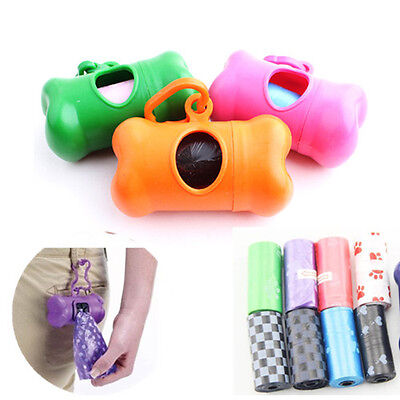 Dog Poop Bags Biodegradable Case Bone Type Leash Dispenser For Pet Pooper UK