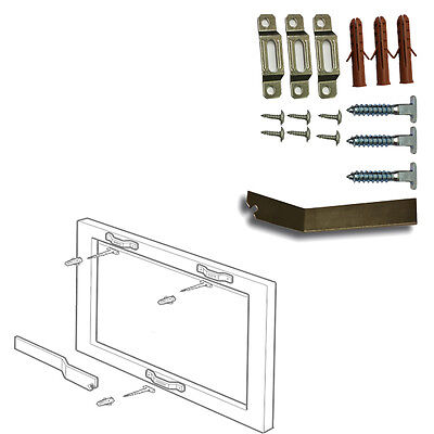 Picture Hanging Security KIT Frame Security KIT T-Screw Locking Hanger WITH KEY