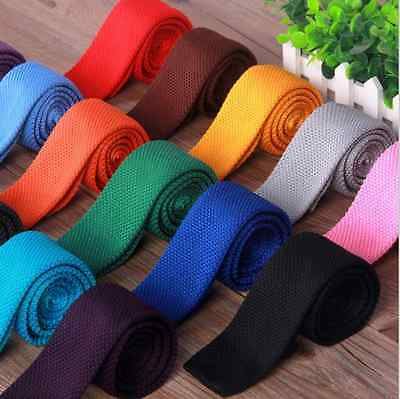 New skinny knitted neck tie with different colours