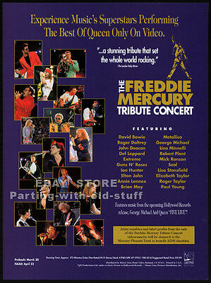 THE FREDDIE MERCURY TRIBUTE CONCERT__Original 1993 Trade Print AD promo advert