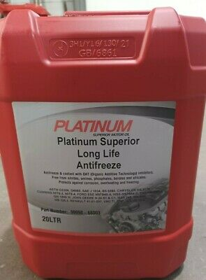 20L Antifreeze 20 Litre Red Platinum Long Life Coolant