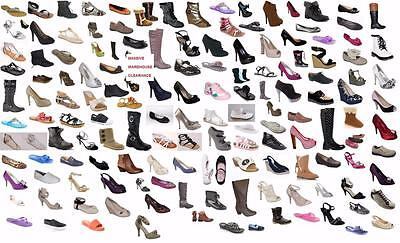 WHOLESALE JOBLOT 50 pairs of shoes boots sandals all brand new