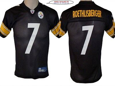 Maillot nfl Foot US américain STEELERS 7 Roethlisberger Taille 10 12 Ans (fr)