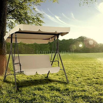 3 Seater Swing Chair Patio Hammock Garden Outdoor Cushioned with Canopy UK Y2R4