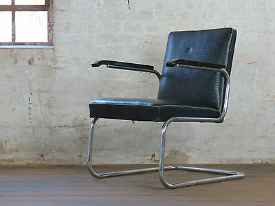 Bauhaus Stahlrohr Mauser Retro Chair Werksdesign Sessel Vintage Art Deco