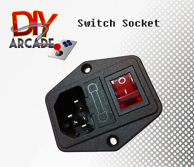 Switch Power Socket with Fuse for Arcade Cabinet High Quality Stong Plastic