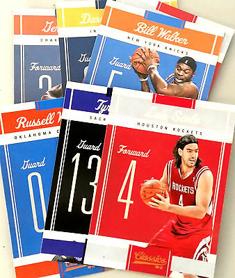 Lot 7 Cartes cards basket NBA SANS DOUBLES Panini Classics 2010 2011 Westbrook