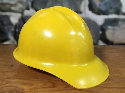 Vintage Bullard Hard Boiled Hard Hat With Inner Band Yellow Man Cave