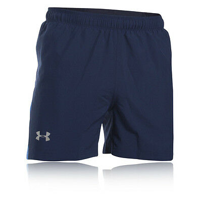 "Under Armour Launch 5"" Woven Hombre Azul Running Deporte Shorts Pantalones"