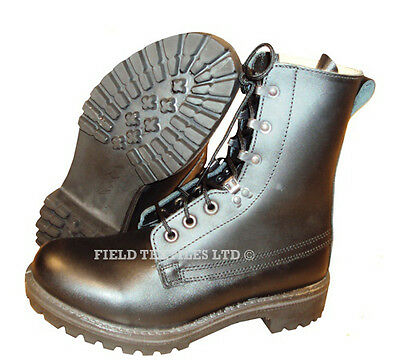 BLACK LEATHER ASSAULT BOOTS - Brand NEW - Genuine British Army