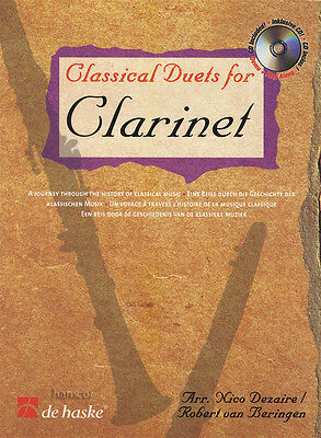 Classical Duets for Clarinet Sheet Music Book & Play-Along CD