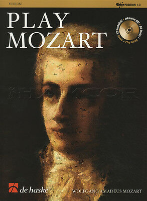 Play Mozart for Violin Sheet Music Book with CD Play-Along Wolfgang Amadeus