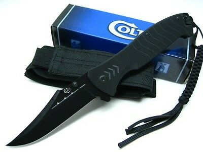 """COLT - Large G-10  FLIPPER knife w Lanyard 4.6"""" blade CT537 - """"CLOSE-OUT PRICE"""""""