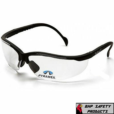 Safety Glasses V2 Reader Clear Bifocal +2.50 Lens Pyramex Venture Ii (1 Pair)