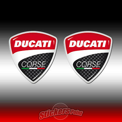 2 Adesivi DUCATI CORSE stickers - new logo - all models - MOTO GP  cm4