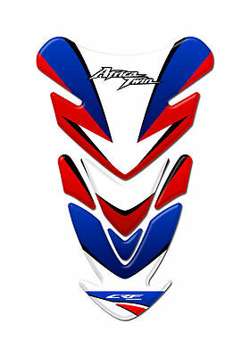 Motorcycle Tank Pad Protector Sticker | (Twin Africa) White & Blue