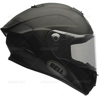 New Bell Race Star Sl Matte Black Motorcycle Helmet Size Large Free Shipping