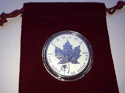 2017 Cougar Privy Canadian Maple Leaf  Reverse Proof 1oz Silver Coin Low Mintage