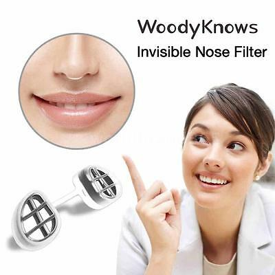 WoodyKnows Invisible Nasal Filter Nose Filter Mask & Frames & Filters Set N5H7
