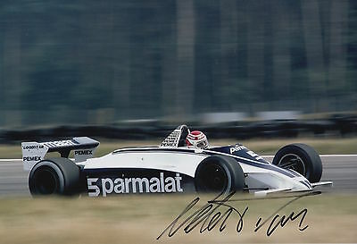 Nelson Piquet Hand Signed Parmalat Racing F1 12X8 Photo 2.