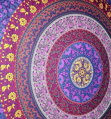 Indian Tapestry Wall Hanging Large Mandala Throw Bohemian Hippie Gypsy Decor NEW