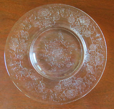 "Hazel Atlas Florentine #2 Poppy Clear Depression 8 ½"" Salad Plate(s)"