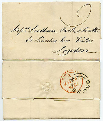 GB NORFOLK 1833 PROVINCIAL POST DOWNHAM UNDATED CIRCLE on WRAPPER