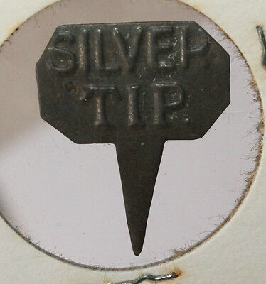 Vintage Embossed Silver Tip Tin Tobacco Tags