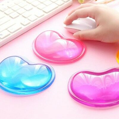Heart Silicon Mouse Pad Clear Wristband Pad For Desktop Computer