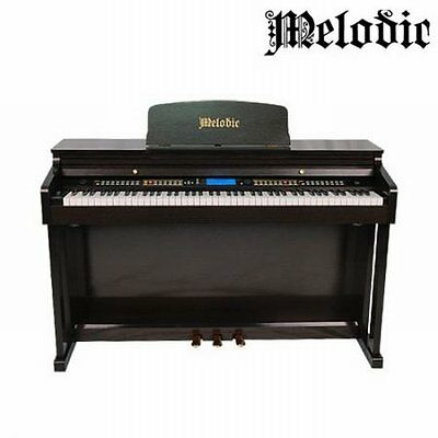 NEW Black Melodic 100 Rhythms 88 Standard Weighted Keys, 3 Pedals Digital Piano
