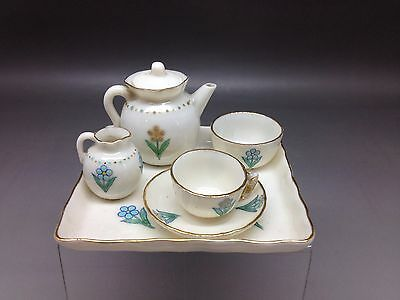 "Goss ""Forget Me Not"" Miniature Teaset Including Teapot"