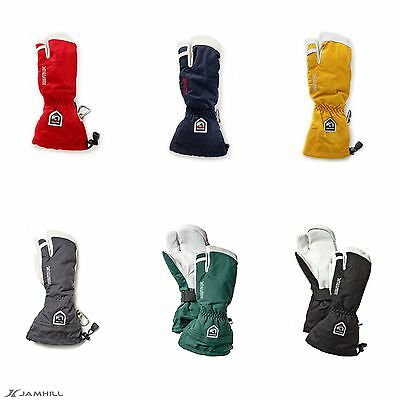 Hestra Army Heli Ski 3 Finger breathable, waterproof leather gloves.