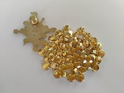 50pcs gold locking pin keepers backs locks no tools required fit disney olympic