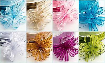 Organza Woven Edge Pull-Bow Ribbon - 6mm x 50m ~ Wedding Gifts Favour Boxes