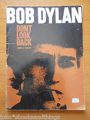 Bob Dylan Don't Look Back Songs And Photos Songbook Canzoniere Vintage Antico