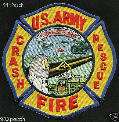 Massachusetts - Arng Army Air National Guard Rescue Fire Dept Firefighter Patch