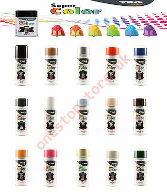TRG Leather Vinyl Dye Spray/Shoe/Boot/Car Seat/Handbags 150ML (All Colours)