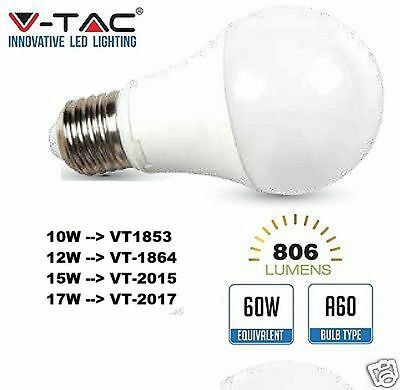 V-Tac Lampadina E27  LED VT 1853-1864-2015-2017  10W 12W 15W  10 12 15 WATT NEW