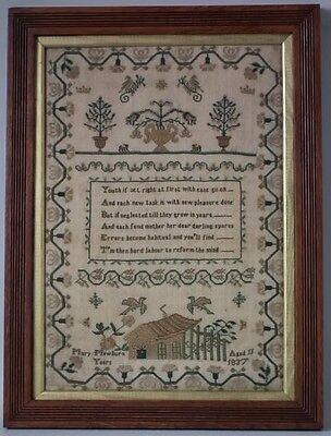 Antique Sampler, 1837 stitched by Mary Mewburn