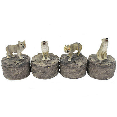 wolf trinket box hand painted storing keepsakes 9 x 9 x 6cm deep WO_06516