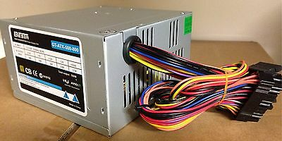 550W 8cm fan Power Supply P4 / AMD ATX 24&20pin, 3 xSATA, 1 x PATA, (4+4) +12V