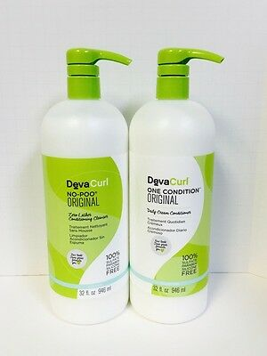 DEVACURL DEVA CURL NO POO & ONE CONDITION ORIGINAL LITER DUO - 32oz