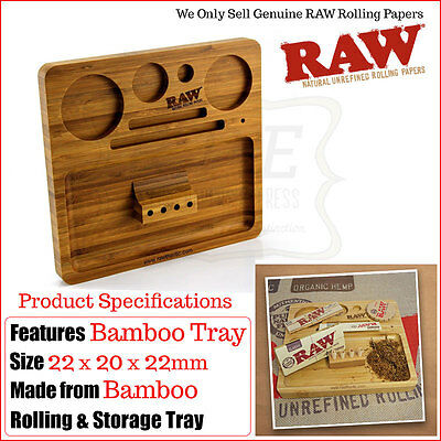 Raw Wooden Bamboo Rolling Tray - Multi Listing