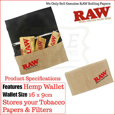 Raw Smoking Wallet Tobacco Holder/Pouch - Multi Listings