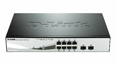 D-Link DGS-1210-08P 8 Port Managed Gigabit PoE Smart Switch with 2 SFP Ports