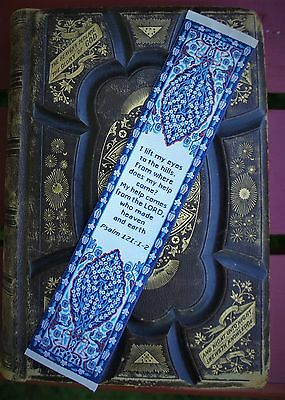 LOGOS Woven Turkish Carpet Bookmark with Bible Verse Psalm 121:1-2