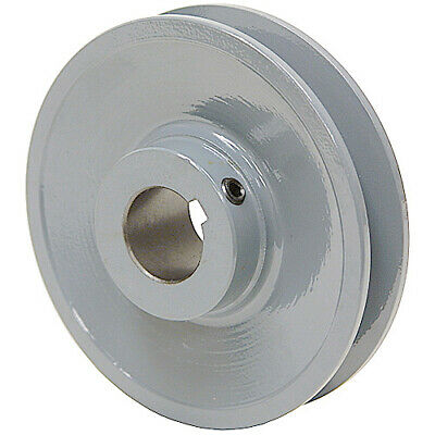 "4.45"" Diameter 1-1/8"" Bore 1 Groove V-Belt Pulley 1-Bk47-F"