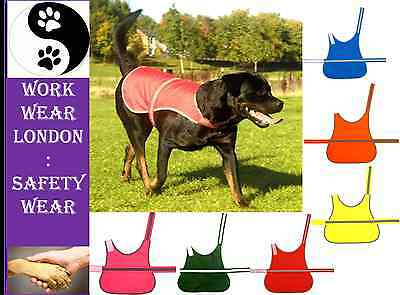 Waterproof High Vis Hi Viz Dog Pet Safety Vest Reflective Coat