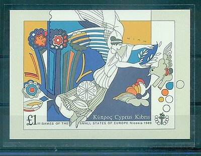 SPORT - SPORT CYPRUS 1989 3rd Games of Small States of Europe block